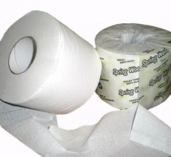 SWP 300-891 - Spring Wood RECYCLED TOILET TISSUE 1PLY  - 1232/48/CS