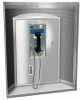 ASI Curved Telephone Accommodation - with Flush Panel Housing and Writing Shelf