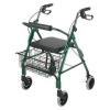 DMI® Ultra Lightweight Aluminum Rollator - Green, Adjustable