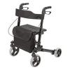 "HealthSmart® Gateway Aluminum Rollator - Black, 31""-36""h, 300 Lb"