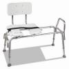 "DMI® Heavy-Duty Sliding Transfer Bench - w/ Cut-Out Seat, 19-23""h, 15 X 19"