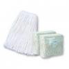 BOARDWALK White Cotton Mop Heads 4-Ply - Cut-End, #16 Band
