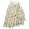 BOARDWALK Cotton Lie-Flat Mop Heads - 20 Oz, White