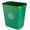 Continental Commercial Recycling Wastebaskets - 28-1/8 quart