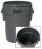 Continental Huskee® BackSaver™ Round Receptacles - 32 Gal