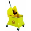 Continental Structolene Combo Mop Bucket, with Down-Press Wringer - 44 Quart, Yellow