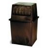 Continental King Kan® Receptacles - 50 Gal, Brown