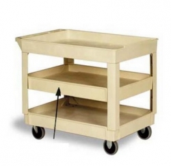 CON 5801BE - Continental Optional Center Shelves - For Pneumatic Carts #5800, Beige