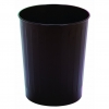 Continental Steeline™ Black Round Wastebaskets - 26 Quart