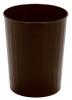 Continental Steeline™ Brown Round Wastebaskets - 26 Quart