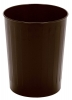 Continental Steeline™ Brown Round Wastebaskets - 26 Quart