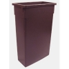 Continental Brown Wall Hugger™ Receptacle - 16 Gal.