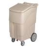 Continental Conserve Mobile Ice Bin, 200 lb Ice Caddie - Beige
