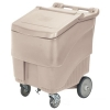 Continental Conserve Mobile Ice Bin, 125 lb Ice Caddie - Beige