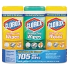 "CLOROX Clorox® Disinfecting Wipes - 7"" x 8"",  Lemon and Fresh Scent"