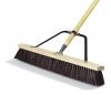 "Carlisle Rough Floor Sweep w/Stiff Maroon Plastic Bristles - 24"""