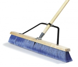 CRS 367386TC14 - Carlisle Medium Sweep w/Blue Plastic Bristles & Center Row Wire - 24