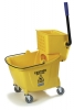 Carlisle Yellow Flo-Pac® Bucket with Side Press Wringer - 35 Qt.