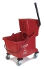 Carlisle Red Flo-Pac® Bucket with Side Press Wringer - 35 Qt.