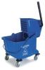 Carlisle Blue Flo-Pac® Bucket with Side Press Wringer - 35 Qt.