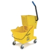 Carlisle Yellow Bucket with Side Press Wringer - 26 Qt.