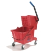 Carlisle Red Bucket with Side Press Wringer - 26 Qt.