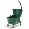 Carlisle Green Bucket with Side Press Wringer - 26 Qt.