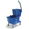 Carlisle Blue Bucket with Side Press Wringer - 26 Qt.