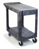 "Carlisle Gray Flat Shelf Utility Cart - 40"" x 19"" X 32-1/2"""