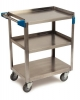 "Carlisle 3 Shelf Stainless Steel Utility Cart, 300 Lbs. - 15.5 x 24""W"
