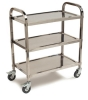 "Carlisle 3 Shelf Knockdown Stainless Steel Utility Cart, 400lb - 15-3/4""W x 29-1/2"" L"