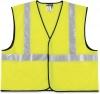 MCR Safety Luminator™ Class 2 Safety Vest - Fluorescent Lime W/silver Stripe, Large