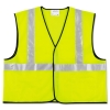 MCR Safety Luminator™ Class 2 Safety Vest - Fluorescent Lime W/silver Stripe, 2XL
