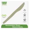 """ECO Plant Starch Cutlery - Knife , 7"""", 50/PK"""