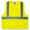 GloWear® 8210HL Class 2 Economy Safety Vest - Hook Closure, Lime, L/XL