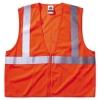 GloWear® 8210Z Class 2 Economy Safety Vest - Zipper Closure, Orange, L/XL