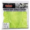 GloWear® 8210Z Class 2 Economy Safety Vest - Zipper Closure, Lime, 2L/3XL
