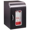 Cube Mini Coffee Station Refrigerator - 0.21 Cu. Ft, Black w/Chrome Handle