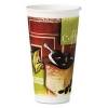 HUHTAMAKI Insulated Hot Cups - 20 Oz, Green/Brown/White