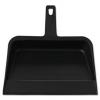 "IMPACT Heavy-Duty Plastic Dust Pan - 12""w x 12""d x 4""h, Black"