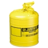 Justrite Safety Can, Yellow - 5 gal