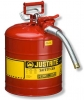 Justrite AccuFlow™ Safety Can, Red - 5 gal