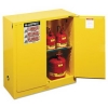 "Justrite Sure-Grip® EX Safety Cabinet - 44""h, Yellow"