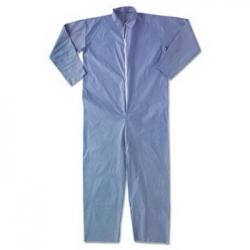 KCC45357 - Kimberly-Clark® KLEENGUARD* A65 Elastic-Cuff Hood & Boot Flame-Resistant Coveralls - Blue, 4XL