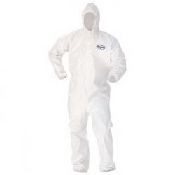KCC 45666 - Kimberly-Clark® KLEENGUARD* A80 Elastic-Cuff Hood & Boot Coveralls - 3XL, White