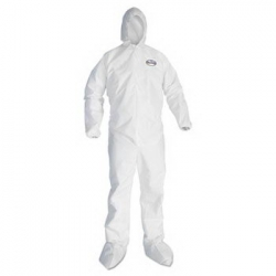 KCC 49125 - Kimberly-Clark® A20 Elastic Back , Cuff Hood & Boot Coveralls - White, 2-XL