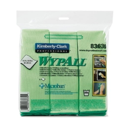 KCC83630 - Kimberly-Clark® WYPALL* Microfiber Cloths with ® Protection - 6 Cloths per Bag