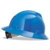 MSA V-Gard® Hard Hats - Blue, Non-slotted