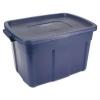 RUBBERMAID Roughneck™ Storage Box - 25 Gal, Dark Indigo Metallic, 9/Carton