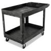 RUBBERMAID Heavy-Duty Utility Cart - Two-Shelf, Black